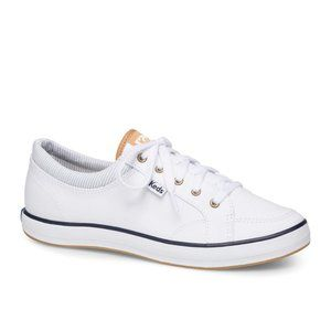 Keds | Lace Up The Center White Chambray Sneaker